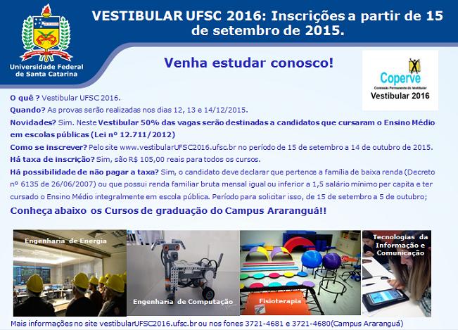 Vestibular UFSC 2016