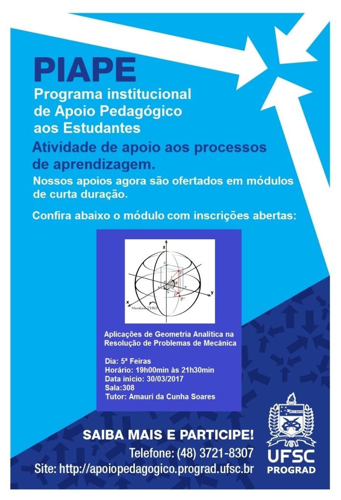 Apoio Pedagógico - Geometria Analítica